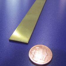 """353 Brass Flat Bar 1/16"""" Thick x 3/4"""" Wide x 36.0"""" Length, 1 Pcs"""