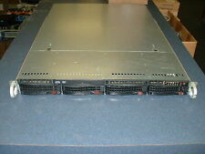 Supermicro 1U Server X9DRI-LN4F 2x Xeon E5-2620 2ghz 12 Cores 24gb 4xTrays Rails