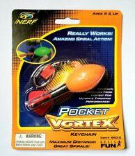 VINTAGE NEW NERF POCKET VORTEX KEYCHAIN #1 ORANGE HASBRO FOOTBALL DART BALL TOY