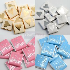 Baby Shower Chocolate Favours Boy / Girl / Hearts Pregnancy Celebration Party