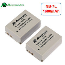 2x1600mAh NB-7L NB7L Li-ion Battery Pack for Canon Powershot G10 G11 G12 SX30 IS
