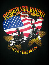 HARLEY DAVIDSON MOTORCYCLE HOMEWARD BOUND IT'S TIME TO RIDE sz XL MEN'S T-SHIRT