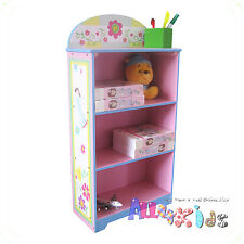 Kids Girl Hand Paint Wooden Fairy Bookcase Bookshelf Storage Cabinet Organiser