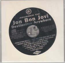 Jon Bon Jovi ultra rare Advance CD Destination Anywhere