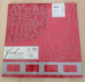 NEW Die-Cut Chipboard Palettes Scarlet 4 Sheets 350 Pieces Marcella by K Company