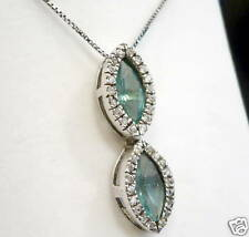 Necklace Silver 925 with Zircons Blue And White