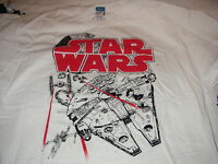 STAR WARS OFFICIAL SIZE XL WHITE T-SHIRT NEW WITH TAGS COOL COLLECTIBLE LOOK