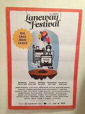 ST. JEROME'S LANEWAY FESTIVAL 2015 Australian Promo Poster A2 FKA TWIGS POND NEW