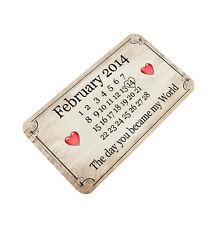 Metal Aluminium Wallet or Purse Insert Card Keepsake Gift Valentines Day Present
