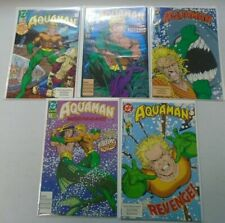 Aquaman 2nd series run:#1-5 8.5 VF+ (1991)