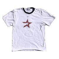 Vintage Y2k 2000s Houston Astros Shirt NIKE MLB Medium White. Cracking On Logo