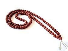 "Big Long Tibetan 108 10mm Rudraksha Bodhi Seeds Prayer Beads Mala Necklace -42"""