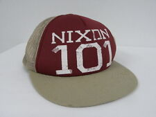 Nixon Taped Trucker Burgundy Khaki  Hat Cap Surf