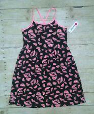 NEW Total Girl Sleeveless Dress Girl Size Large 14 Watermelon Black/Pink