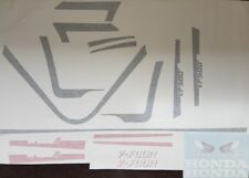 HONDA VF500F2 VF500 F2 MODELS  FULL PAINTWORK DECAL KIT FOR THE RED/WHITE BIKE.