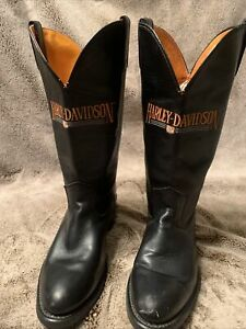 Vintage HARLEY DAVIDSON MENS 7.5 EE COWBOY LEATHER 8600 BOOTS USA Oil Resistant