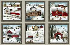 Headin Home Amish Cart Barn Farm Cotton Fabric Elizabeths Studio 24