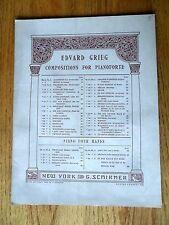 March of the Dwarfs Edvard Grieg Piano Sheet Music Zug Der Zwerge 1902