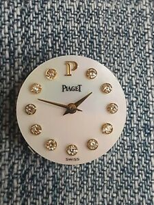 Beautiful,Ladies 201P PIAGET Watch Movement w/18k MOP Diamond Dial/Hands,Working