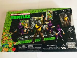 TEENAGE MUTANT NINJA TURTLES MEGA BLOCKS ROCKSTEADY VILLAIN PACK