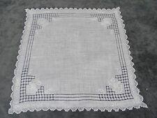 Antique Swiss Appenzell Bridal Handkerchief Embroidered Linen n°2