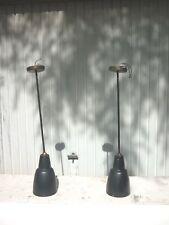 2 lampes  appliques en métal  montées sur rotule  jacques biny pour lita 1960