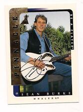 1996/7 Pinnacle Auto Sean Burke Hartford Whalers