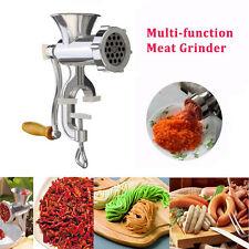 Hand Operate Manual Meat Grinder Sausage Beef Mincer Maker Table Home Kitchen LJ