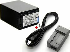 Battery + Charger for NP-FV100 Sony HDR-PJ50E HDR-PJ200E HDR-PJ210E HDR-PJ220E