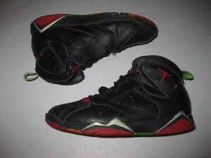 Air Jordan 7 Retro PS Marvin The Martian 304773-028 Black Shoes Sz 2Y 2