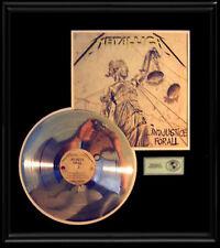 METALLICA AND JUSTICE FOR ALL GOLD RECORD PLATINUM DISC RARE LP ALBUM NON  RIAA