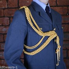 RAF GOLD AIGUILLETTE, BRITISH OFFICERS HIGH QUALITY RIGHT SHOULDER AIGULLETTE