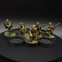 Painted 28mm Bolt Action us infantry squad ×5 warlord games CoC
