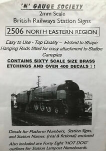 N Gauge Society  400 Transfers & 60 brass etchings for NE Region station signs