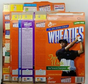Tiger Woods Wheaties Cereal Box Lot (9) General Mills Golf Golfing