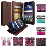 ZTE ZMAX Grand Case, Grand X3, ZMAX Champ Case, Avid 916 Wallet Case Cover