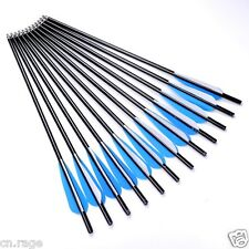 "12Pcs 22"" Crossbow Bolts Premium Aluminum Arrows Hunting Archery Dead Strike"