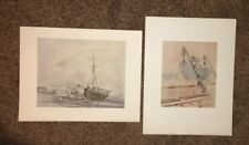 "Shorewood Publishers ""Coast Scene With Ships""& ""The Wreck Of The Iron Cross"""