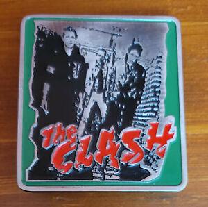 The Clash Enamel Belt Buckle 2005 NOS New Official Bravado Merchandise Red/Green