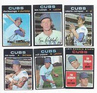 1971 Topps baseball (12) card lot Chicago Cubs, Ron Santo, Beckert Kessinger etc