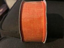 ORANGE SOLID  WIRED RIBBON  1.5 X 10 YARDS CRAFTS, WREATH