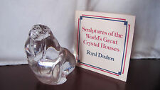 Crystal Sculptures of World's Great Crystal Houses Royal Doulton WALRUS COA MINT