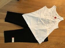 All New! Women's 3 Pc Outfit: 14/16 Top; 12 Crops/Long Shorts; Necklace.