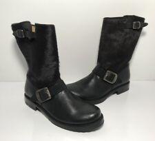 FRYE Veronica Short Fur Black Leather Boots Women's Size 6.5 B *76558* $348.00