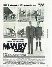 PUBLICITE ADVERTISING 115  1964  MANBY TERGAL  vetements garçons