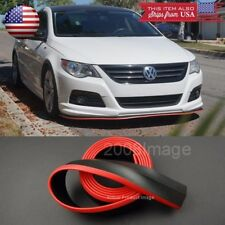 "1.3"" Black Red Trim EZ Fit Bumper Lip Splitter Chin Splitter For  Mazda Subaru"