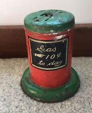J. Chein & Co. Gas Air Pump Service Station Sign Part Tin Vintage