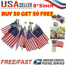50 Pack Small American Flags Small Us Flags/Mini American Flag Buy 50 Get 50 �
