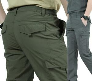 Men's Outdoor Military Urban Tactical Combat Trousers Casual Cargo Pants Hiking