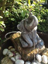 Wasserspeier Elefant Steinfigur Garten Deko Gartenfiguren Elefant Steinguss W33